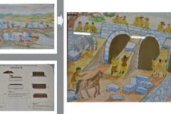 胡朝の城塞建造の想像画