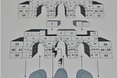 胡朝の城塞の石組み図