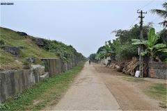 胡朝の城塞 東側壁面