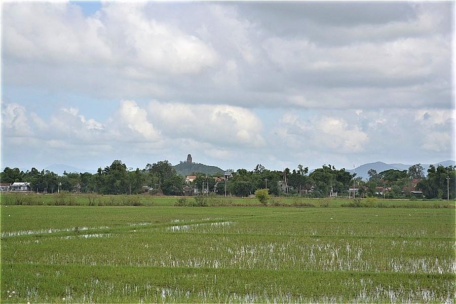 遠くの丘に見えるのは、金塔