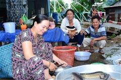 xã Tân Châu, tỉnh An Giang チャム族の集落