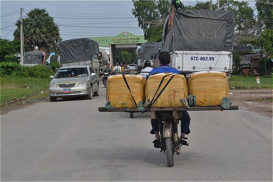 カンボジア国境が近い