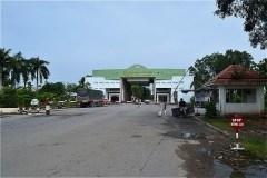 カンボジアとの国境検問所